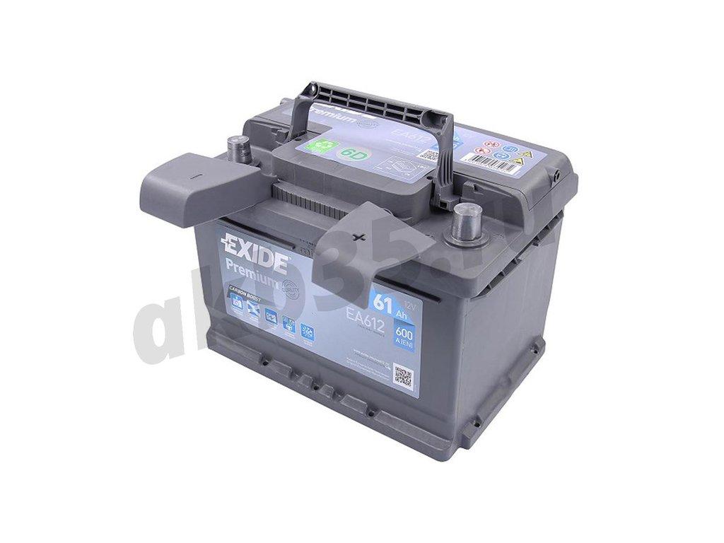 Аккумуляторы: EXIDE 6СТ-61 А/ч /О.П./ низкий EA612 в Планета АКБ