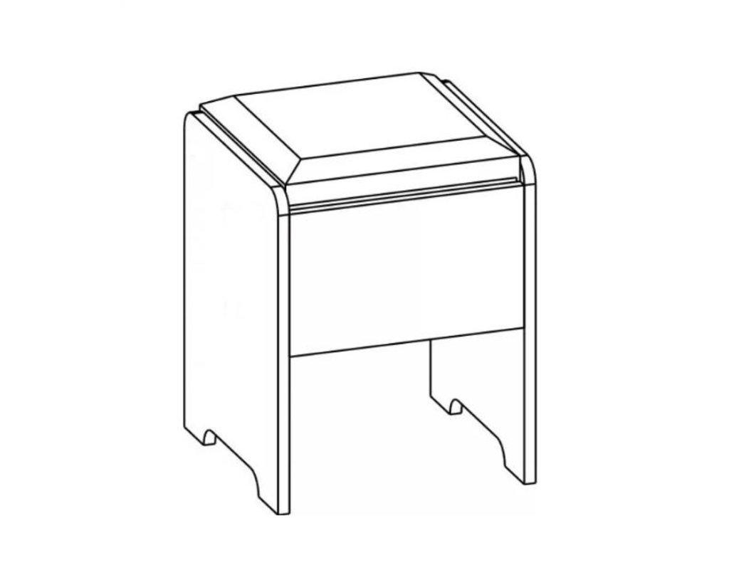 Мебель для спальни Лагуна-2: Пуфик Лагуна-2 в Диван Плюс