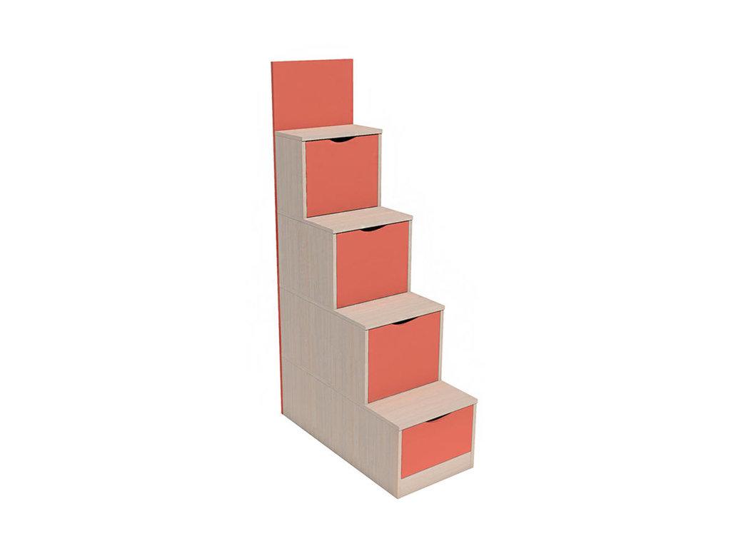 Детская мебель: Лестница с ящиками НМ 011.64 Рико в Стильная мебель