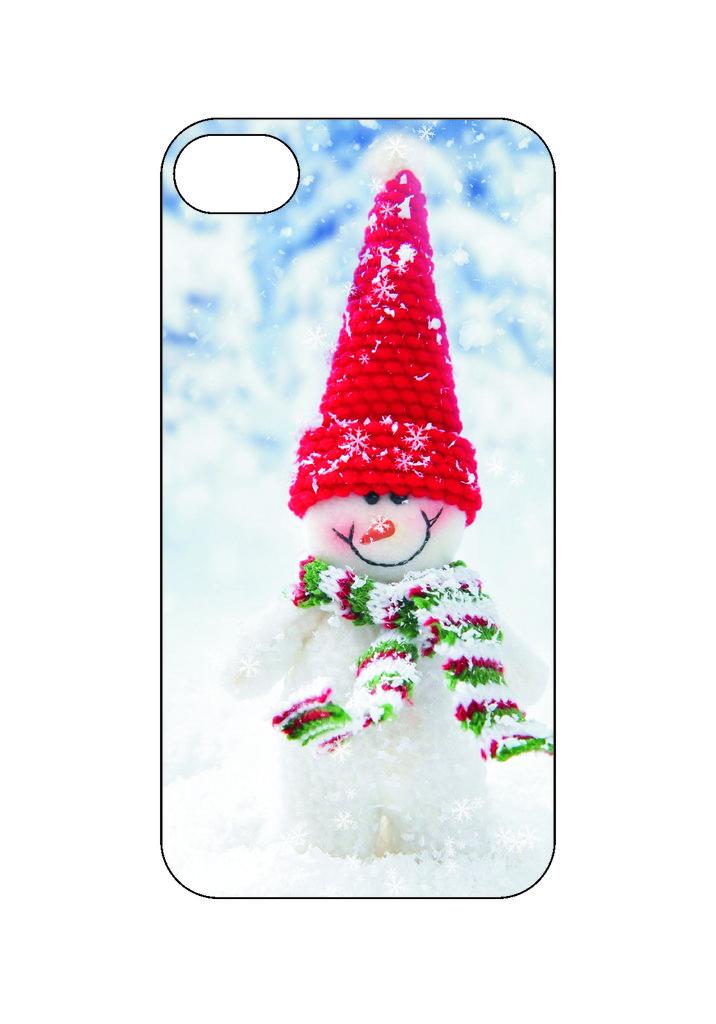 Выбери готовый дизайн для своей модели телефона: Снеговик в NeoPlastic