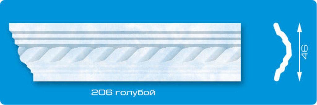 Плинтуса потолочные: Плинтус потолочный ЛАГОМ Ламинированный 206 голубой экструзионный длина 2м в Мир Потолков