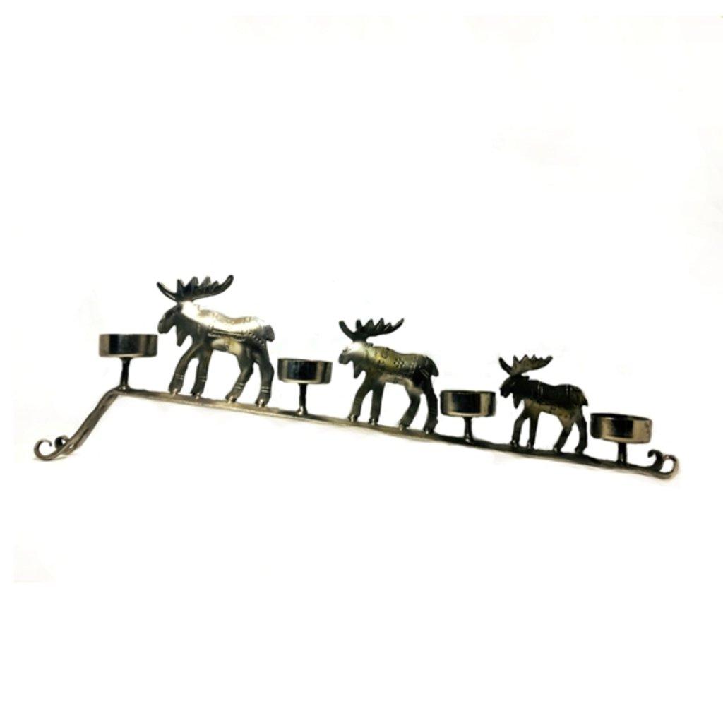 """Вазы, подсвечники, колокольчики: Подсвечник """"Рождественские олени"""" в Шамбала, индийская лавка"""