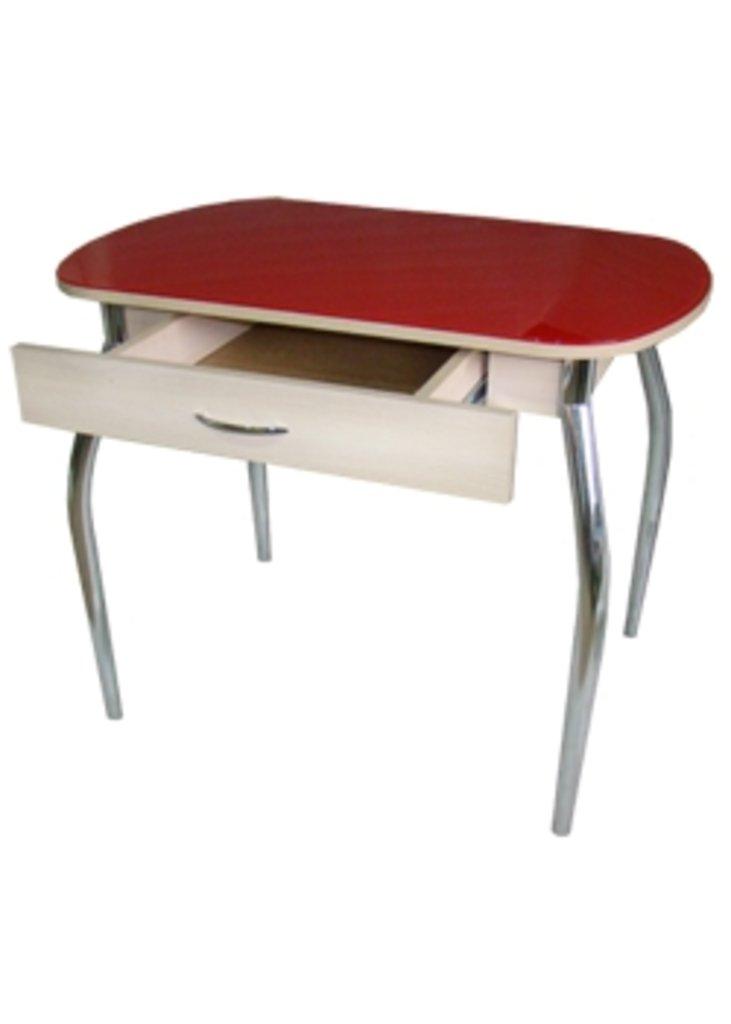 Столы кухонные: Стол ПГ-10 с ящиком (хром) в АРТ-МЕБЕЛЬ НН