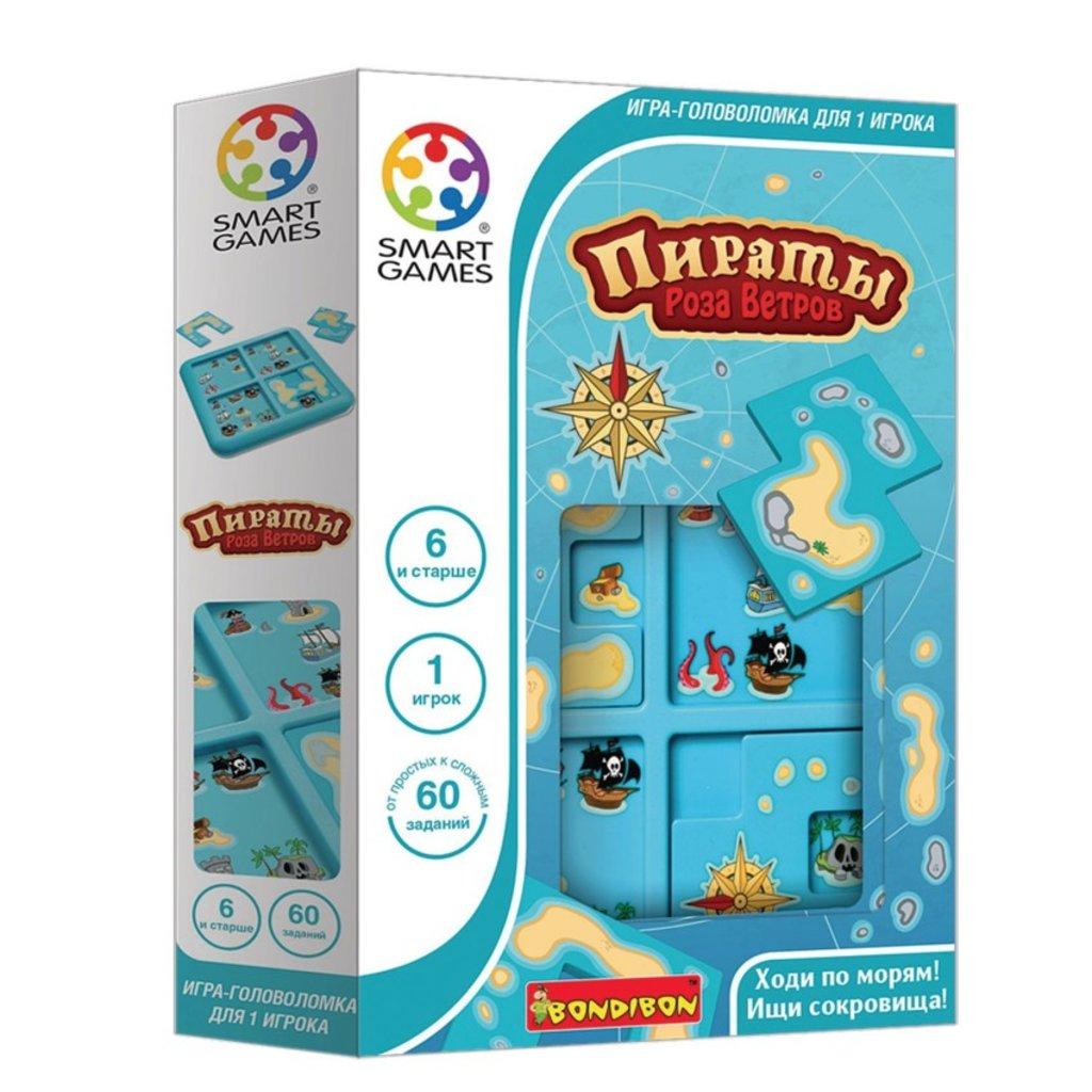 Настольные и спортивные игры: Логическая игра Пираты. Роза ветров Bondibon в Игрушки Сити