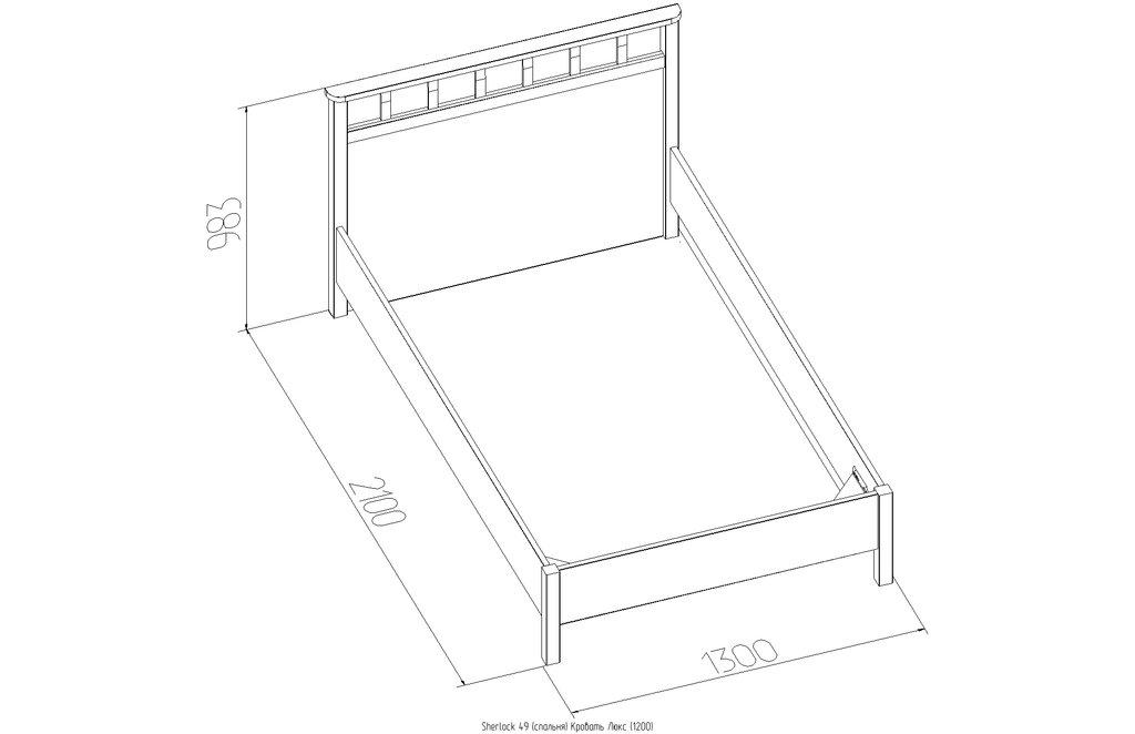Кровати: Кровать Люкс Sherlock 49 (1200, орт. осн. дерево) в Стильная мебель