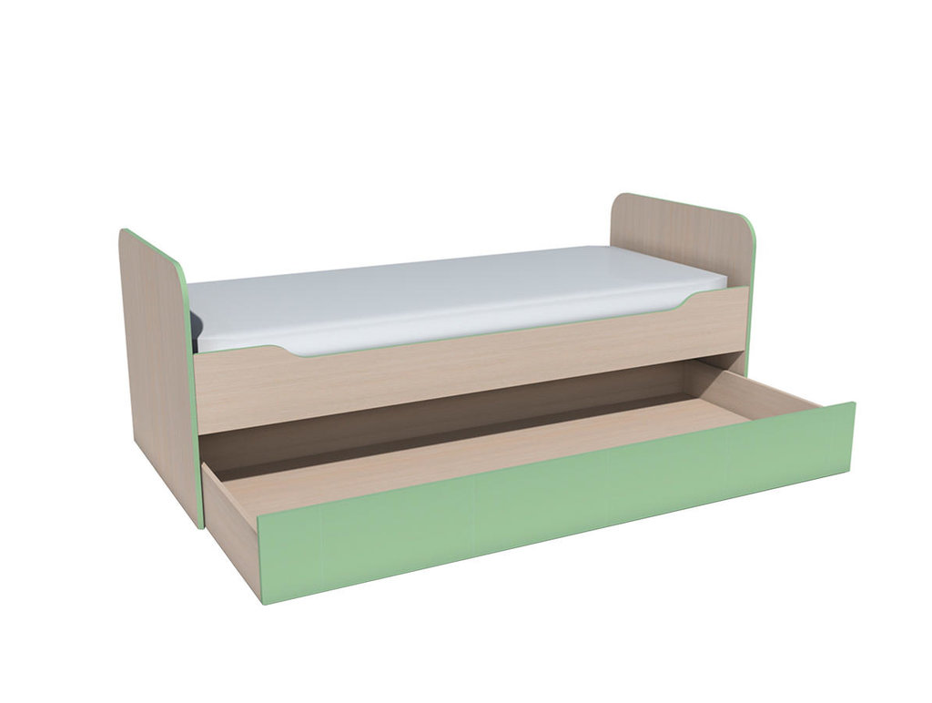 Детские и подростковые кровати: Кровать выкатная НМ 014.43 ММ Рико-М (800x1900, усилен. настил) в Стильная мебель