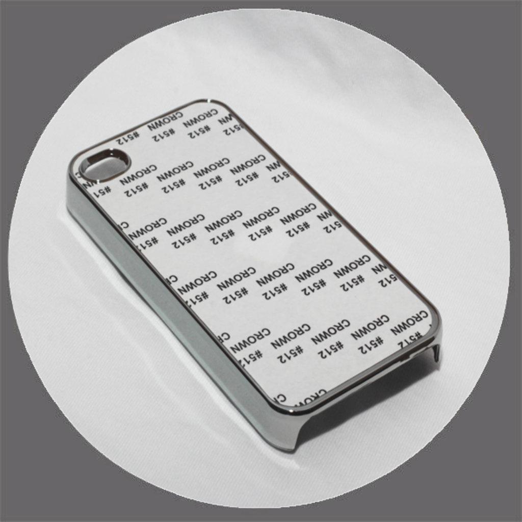 Apple: Чехол для IPhone 4 и 4s Металлизированный Серебро в NeoPlastic