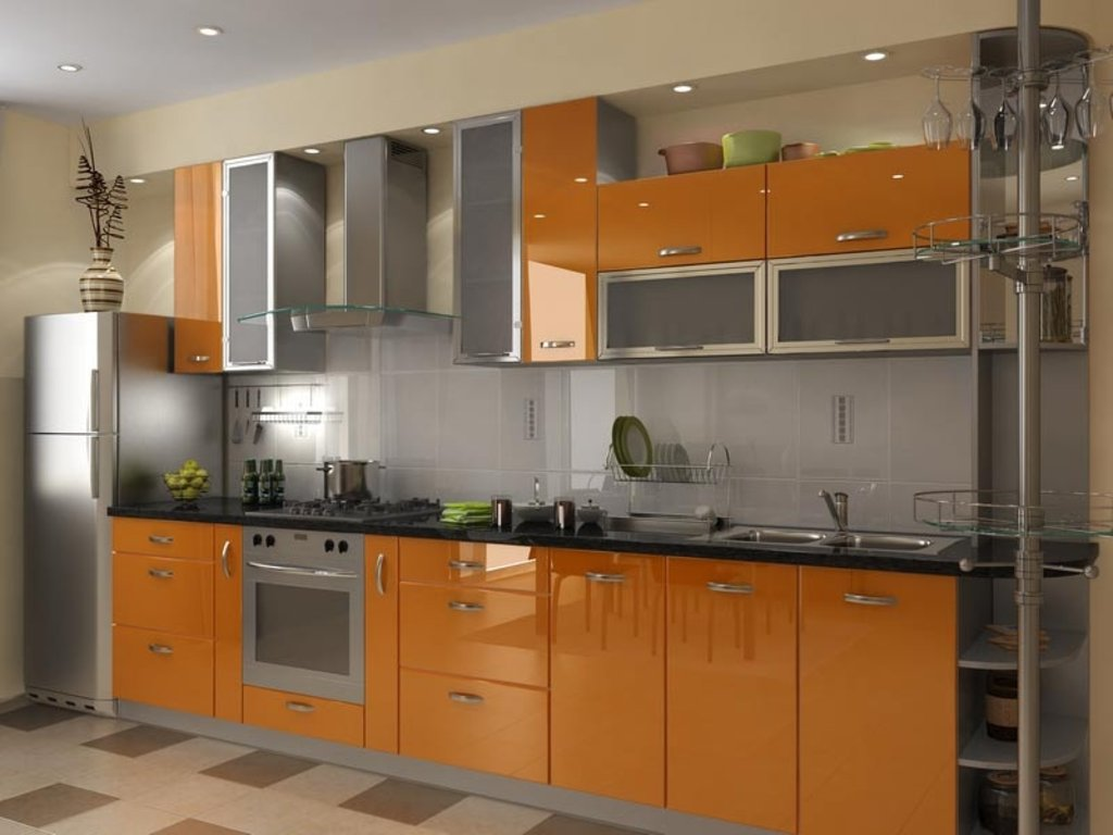 Кухня на заказ: Кухня на заказ Апельсиновое настроение в Студия Мебели