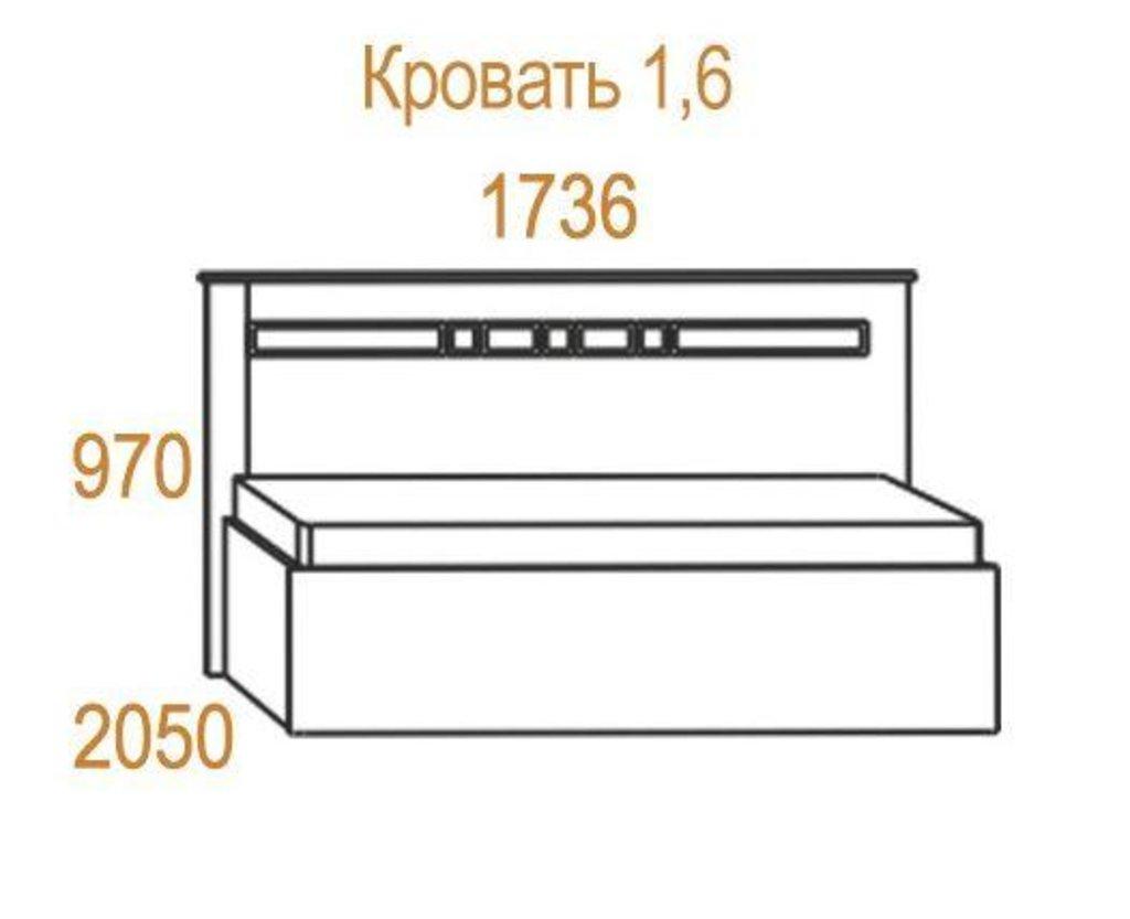 Кровати: Кровать Николь (1600, мех. подъема) в Стильная мебель