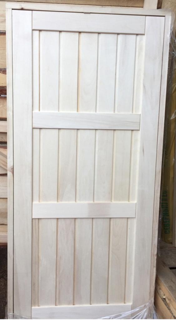 """Двери для саун и бань: Дверь 700х2000 мм глухая (липа) на петлях сорт """"экстра"""" в Погонаж"""