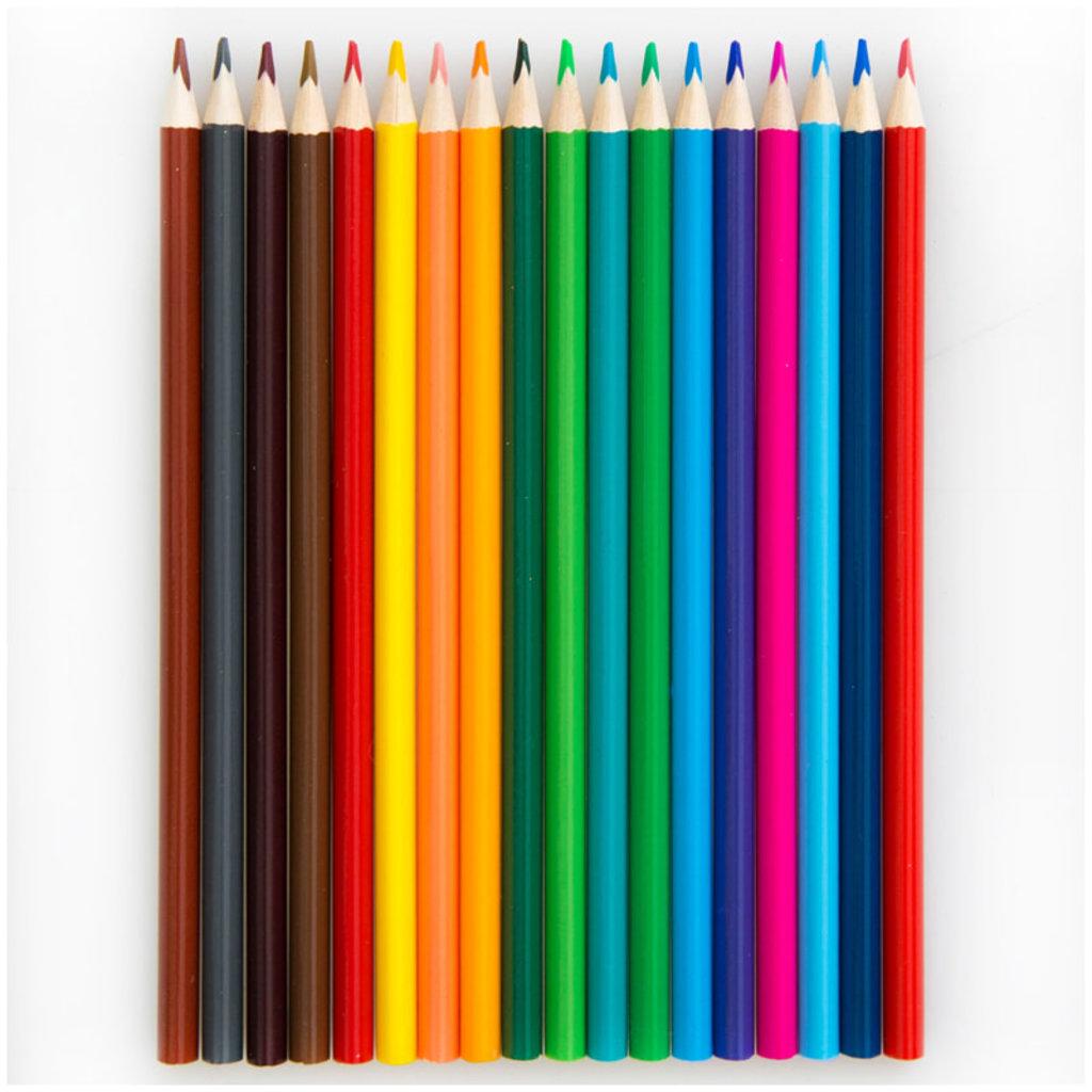 """Карандаши, мелки: Набор цв.карандашей ArtSpace 18цв.""""Животный мир"""", трехгран.,заточен., картон, уп. европодвес в Шедевр, художественный салон"""