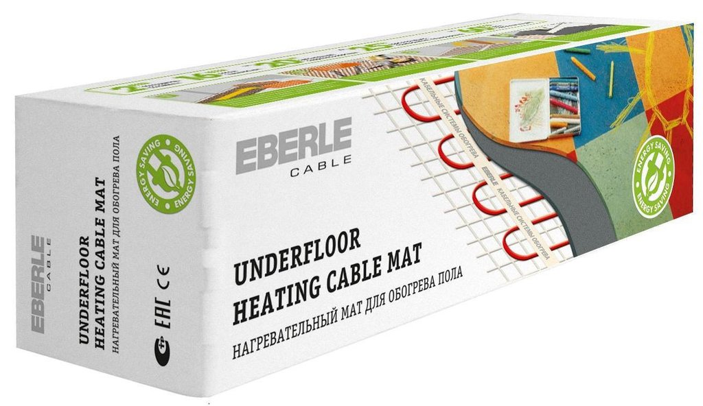 Мат нагревательный EBERLE: Мат EBERLE-cable D-mat 150/12.0-1800 (12м.кв., 1800Вт) в Теплолюкс-К, инженерная компания