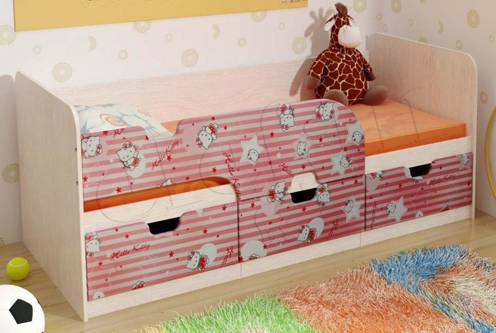 Детские: Кровать детская Минима (Хеллоу Кити) в Vesa