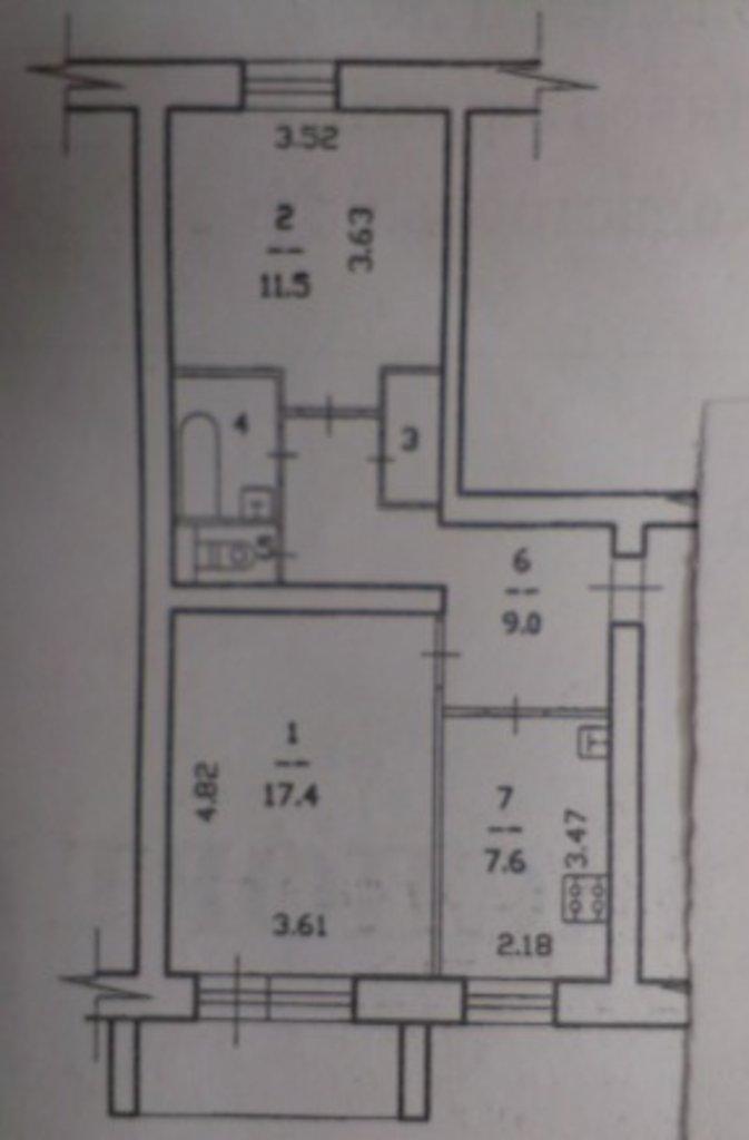 2-комн. квартира: 2-к квартира, 50 м², 1/5 эт. Молодежная, д.7 в А.Н.Квадратный метр