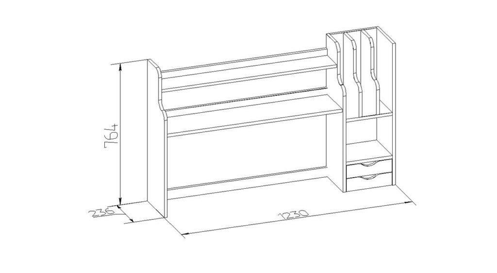 Детские шкафы и стеллажи: Cтеллаж-надстройка Nature 85 в Стильная мебель