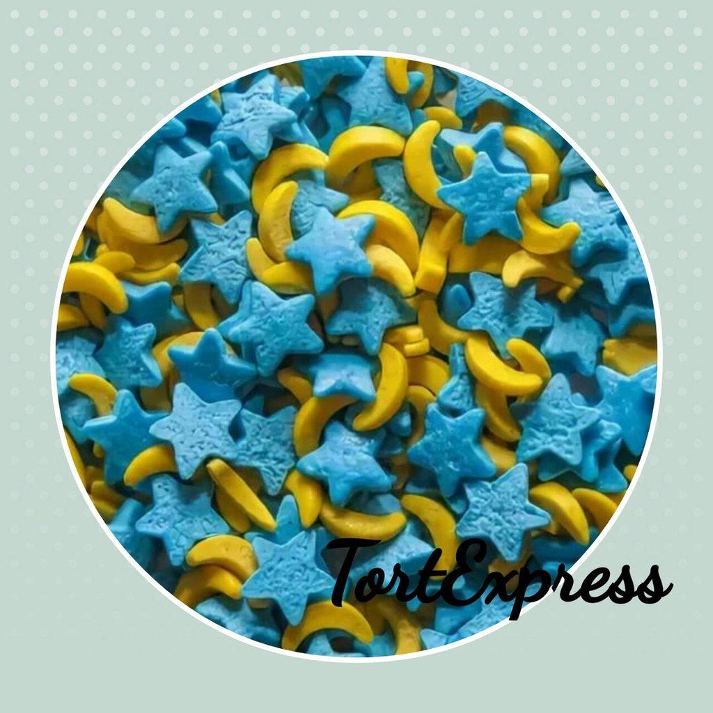 Посыпки декоративные: Посыпка сахарная фигурная Звёзды и луна в ТортExpress