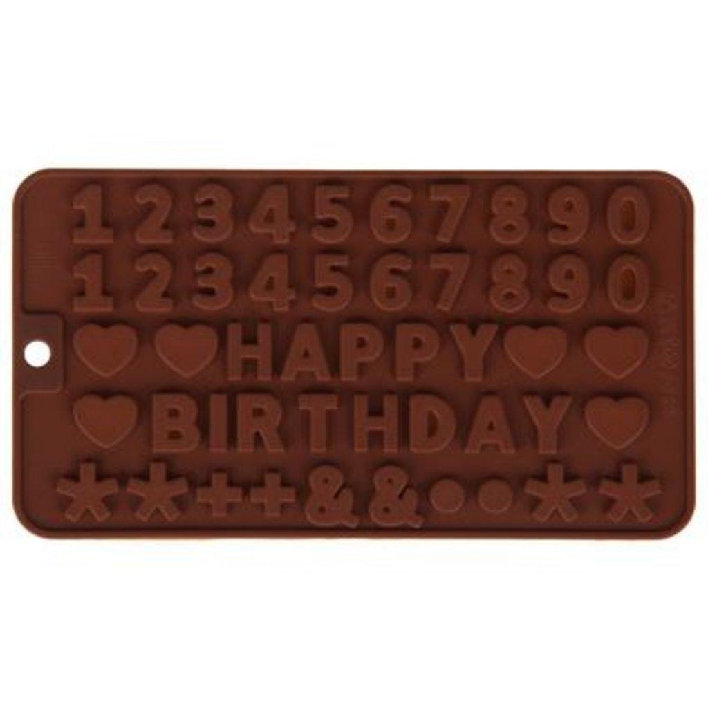 """Силиконовые формы для льда, шоколада и мармелада: Форма для льда и шоколада 49 ячеек """"С днем рождения"""" 21,5х11см в ТортExpress"""