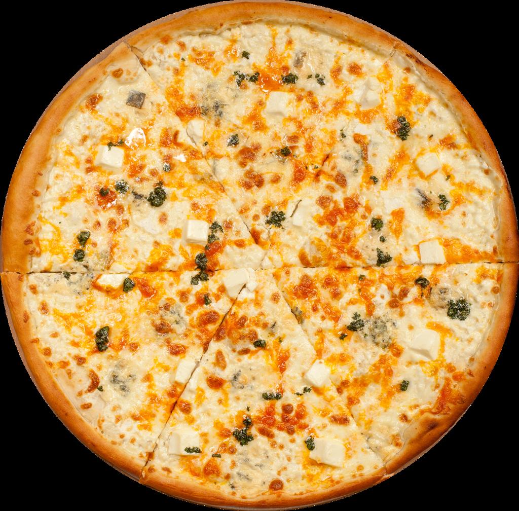 Пицца на тонком тесте: 4 Сыра в Сбарро