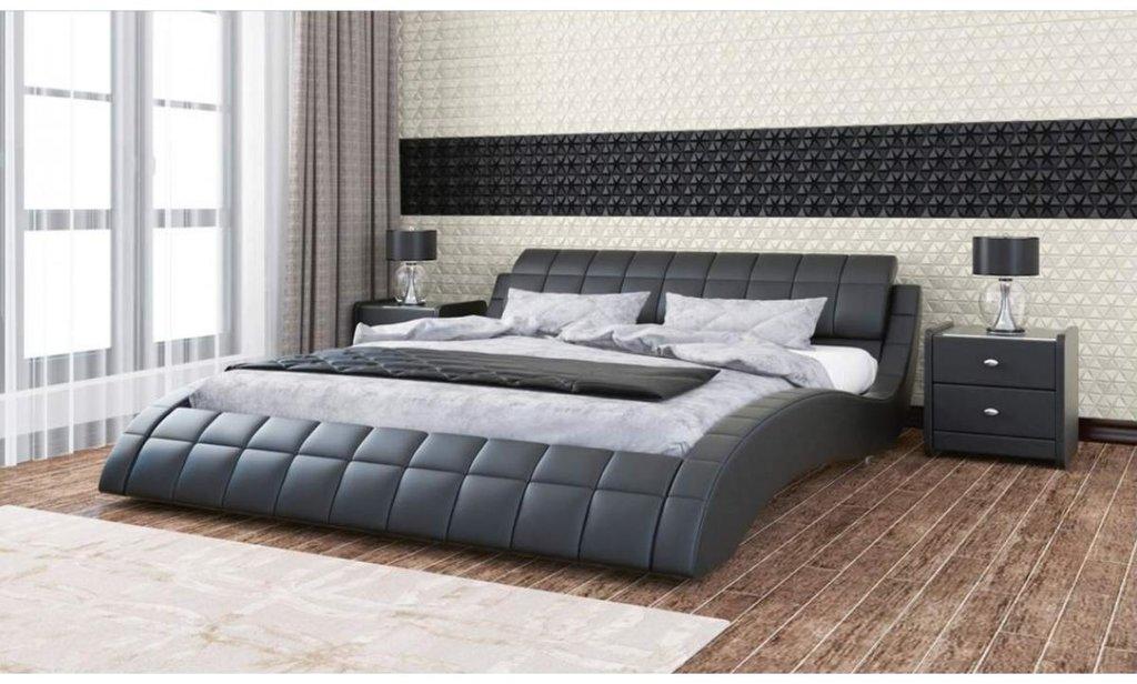 Кровати: Кровать двойная из экокожи Мэри в Уютный дом