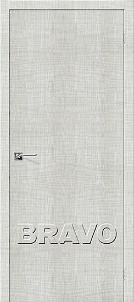 Двери экошпон BRAVO: Порта-50 Bianco Crosscut в STEKLOMASTER