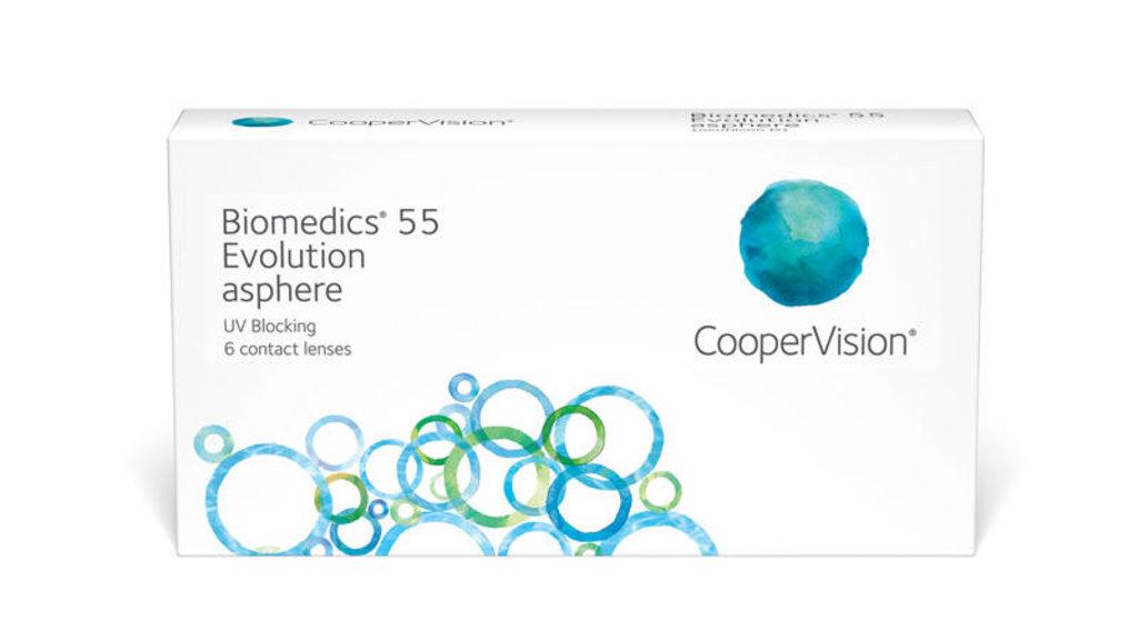 Контактные линзы: Контактные линзы Biomedics 55 Evolution (6шт / 8.6) CooperVision в Лорнет