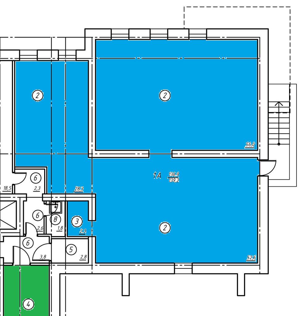 Цокольный этаж: Нежилое помещение в Социум, ООО