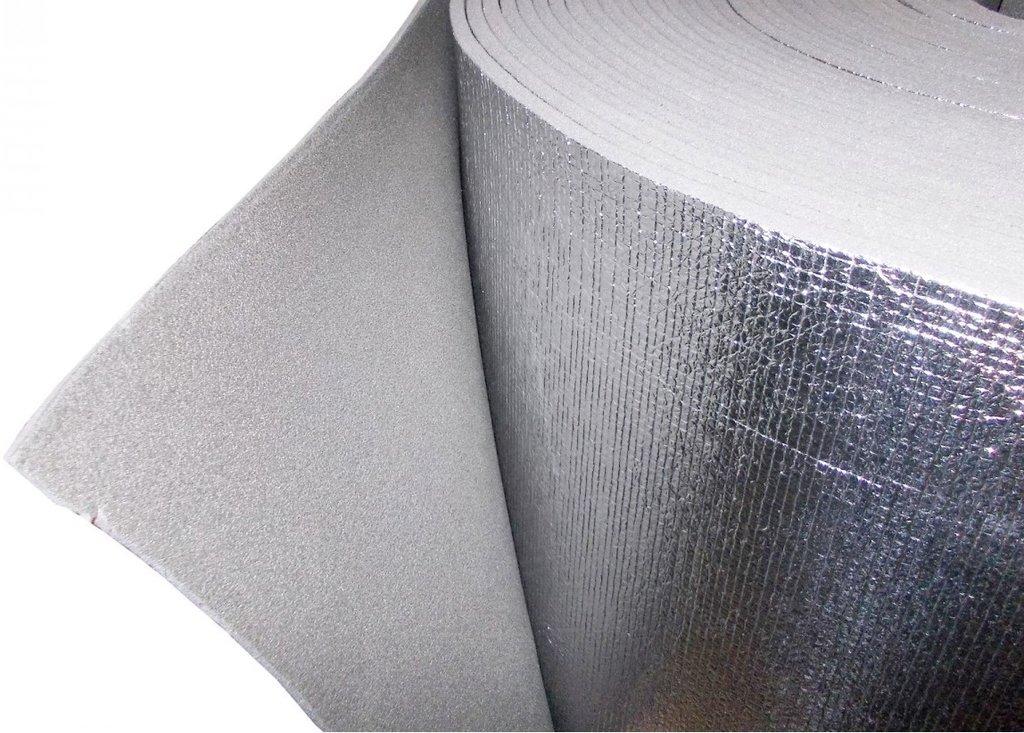 Вспененный утеплитель: Утеплитель вспененный 3 мм (1.2м) 30м2 фольгированный в АНЧАР,  строительные материалы