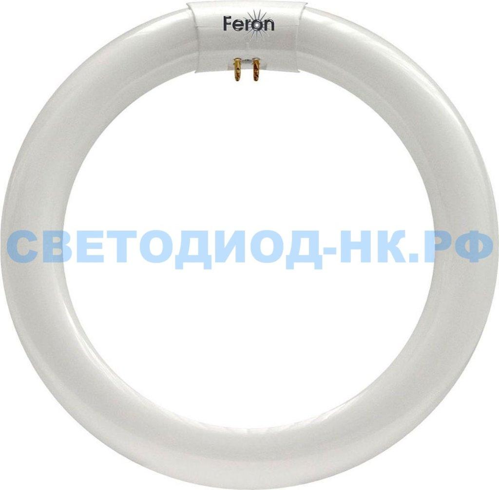 Энергосберегающие лампы: Лампа люминесцентная кольцевая Feron FLU2 T9 G10Q 22W 6400K в СВЕТОВОД