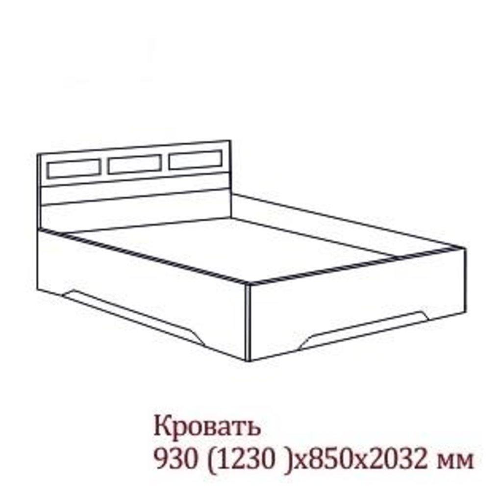 Мебель для спальни Эдем-2: Кровать одинарная (Без матраца 0,9*2,0; 1,2*2,0) Эдем-2 в Диван Плюс
