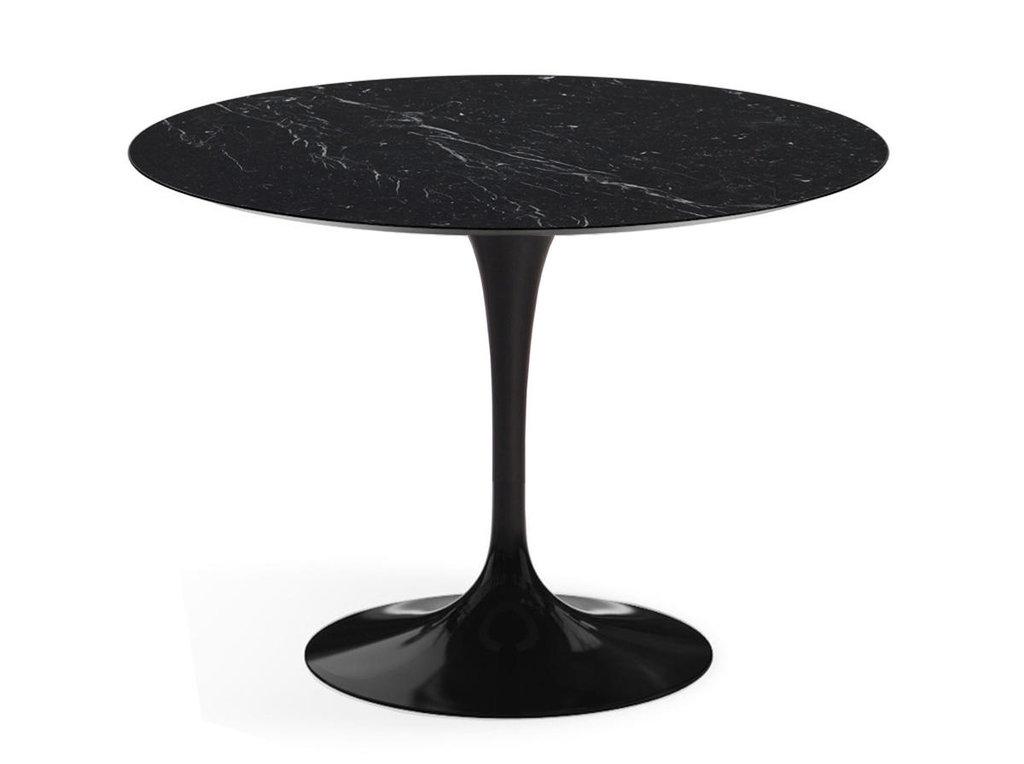 Столы обеденные: Стол обеденный Априори T круглый 100 см 15т мрамор черный в Актуальный дизайн