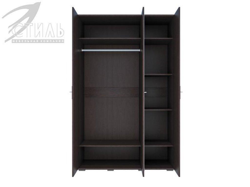 Мебель для спальни Луиза (венге / черный глянец): Шкаф трехстворчатый Луиза (венге / черный глянец) в Диван Плюс