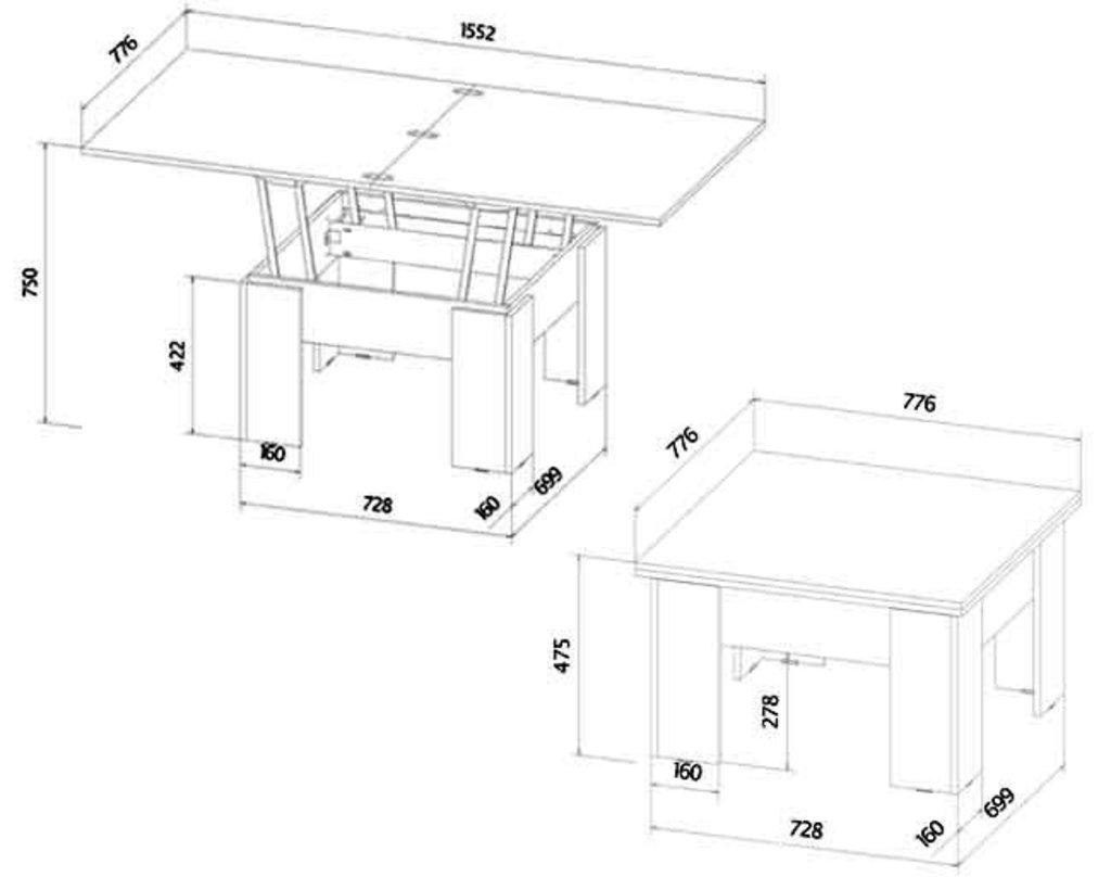 Малые формы: Стол трансформер в Уютный дом