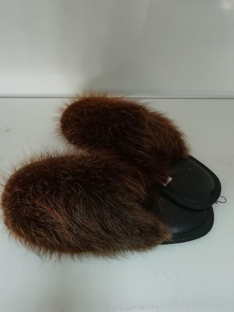 Изделия из натурального меха и кожи (перчатки, варежки, тапочки): Тапочки мех бобра в Сельский магазин