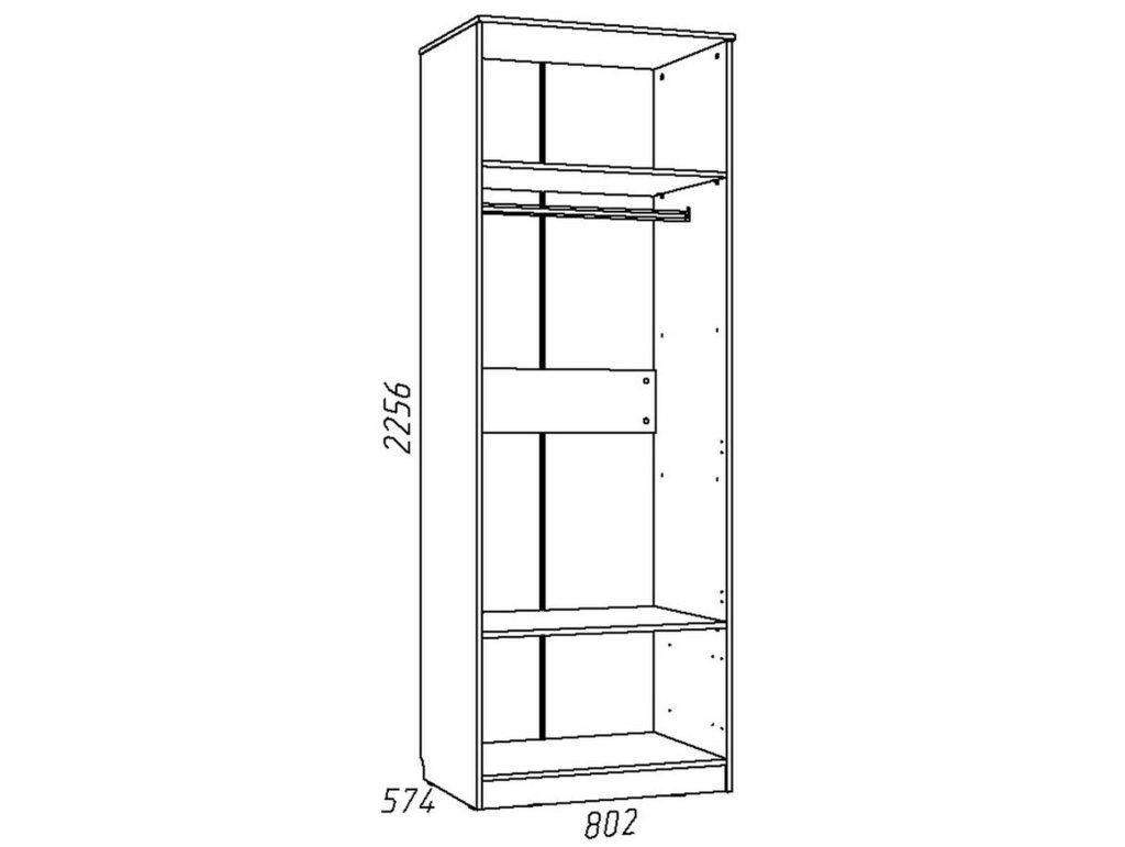 Детские шкафы и стеллажи: Шкаф для одежды НМ 013.02-03 Акварель в Стильная мебель