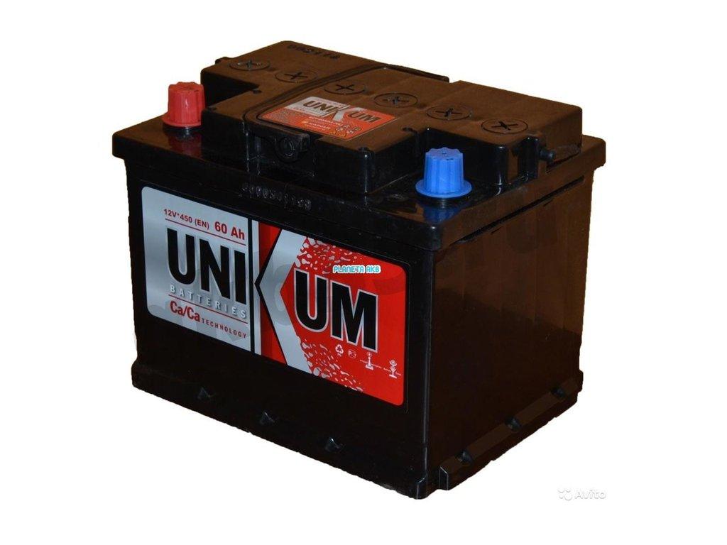 Аккумуляторы: Unikum 6СТ-60 /П.П./ в Планета АКБ