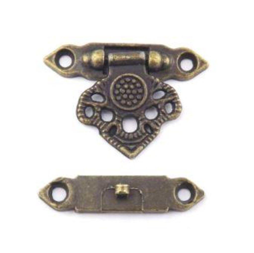 Шкатулки: Замок накладной для шкатулок 37*25мм бронза 1шт FL-032 в Шедевр, художественный салон