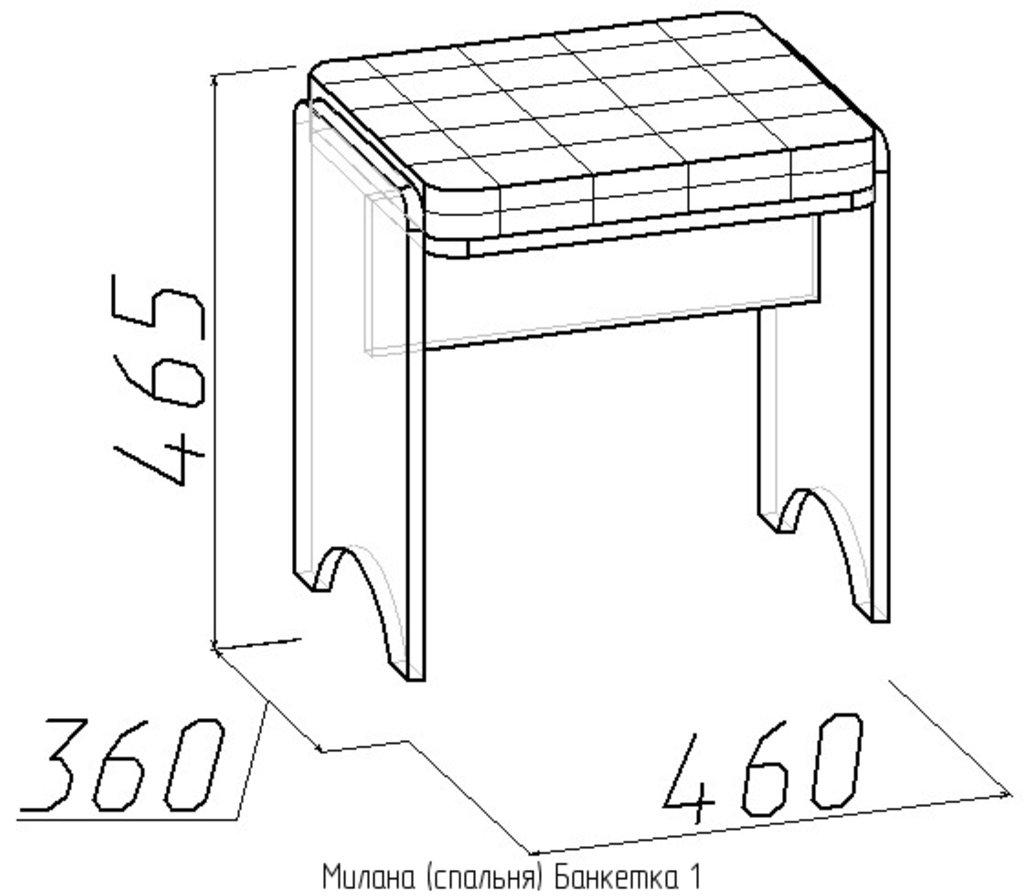 Банкетки и пуфики: Банкетка Милана 1 в Стильная мебель