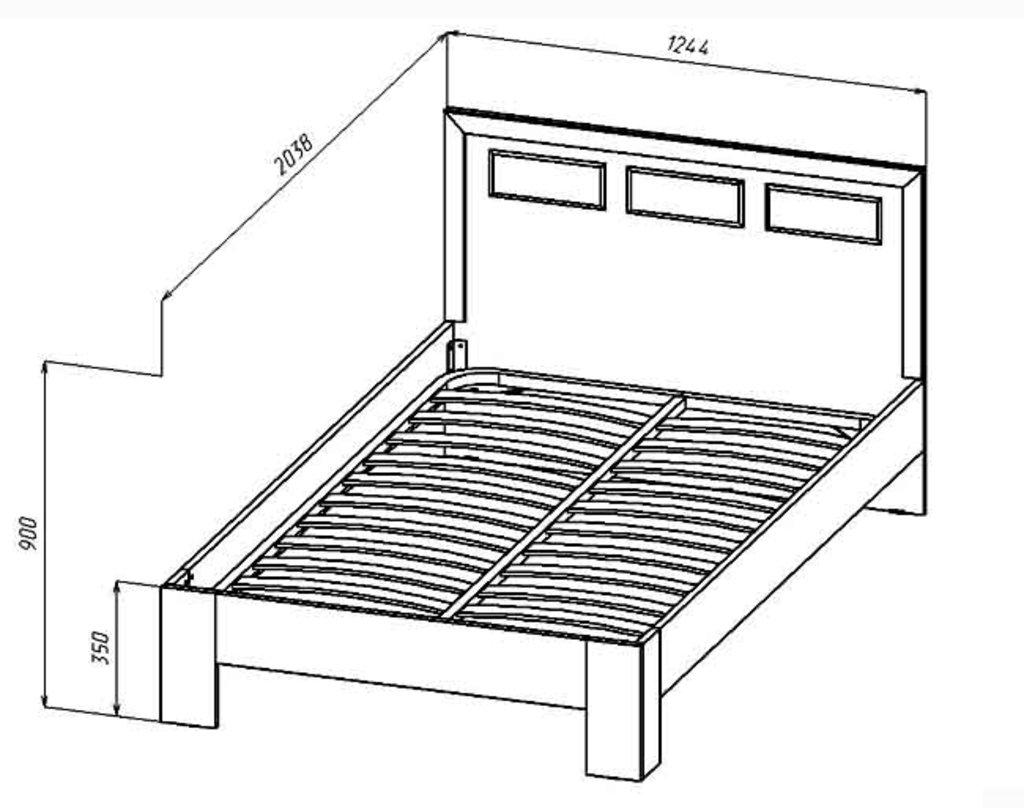 Кровати: Кровать Венеция (1200, орт. осн. дерево) в Стильная мебель