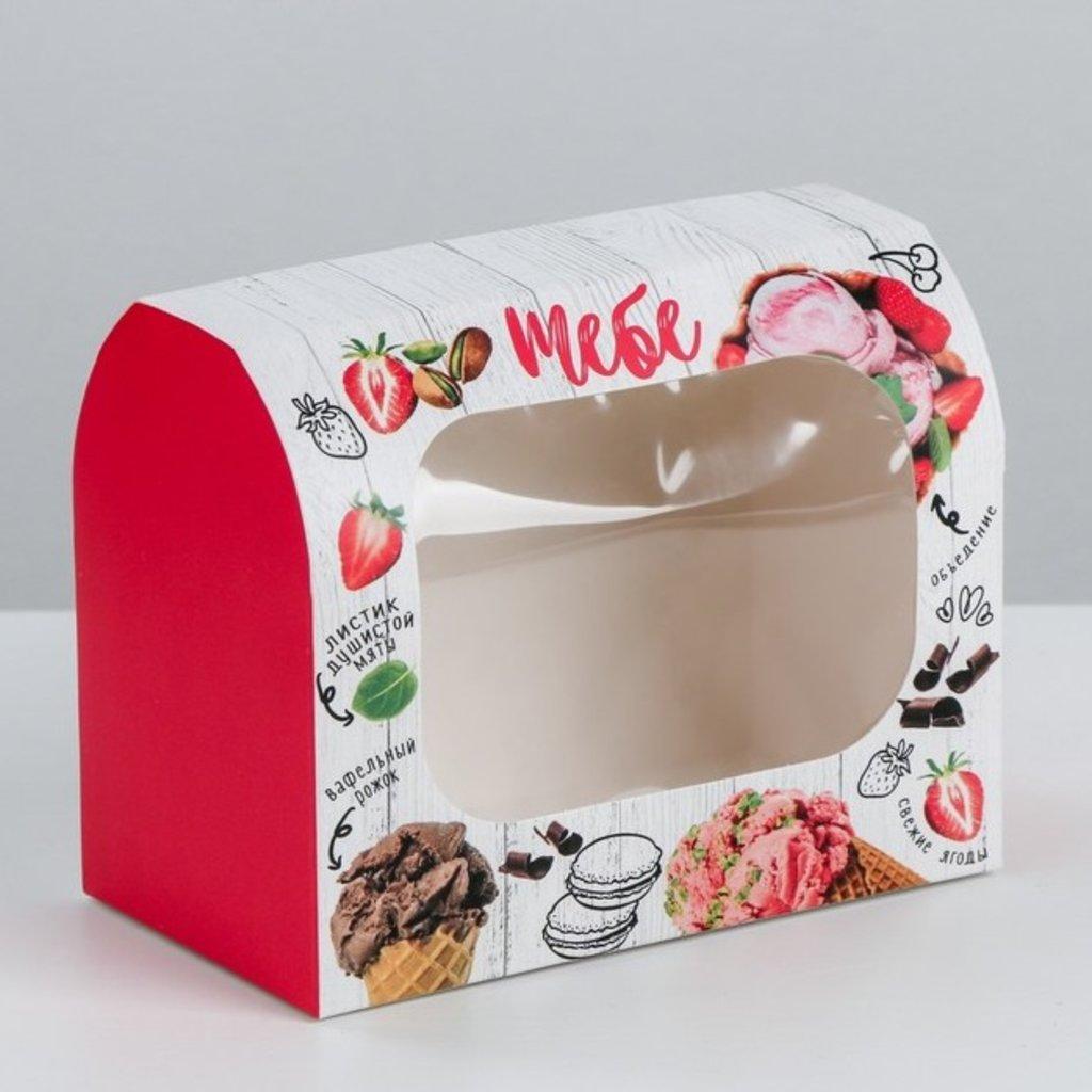 Коробки для кондитерских изделий: Коробка под конфеты «Сладость», 14 × 10 × 8 см в ТортExpress