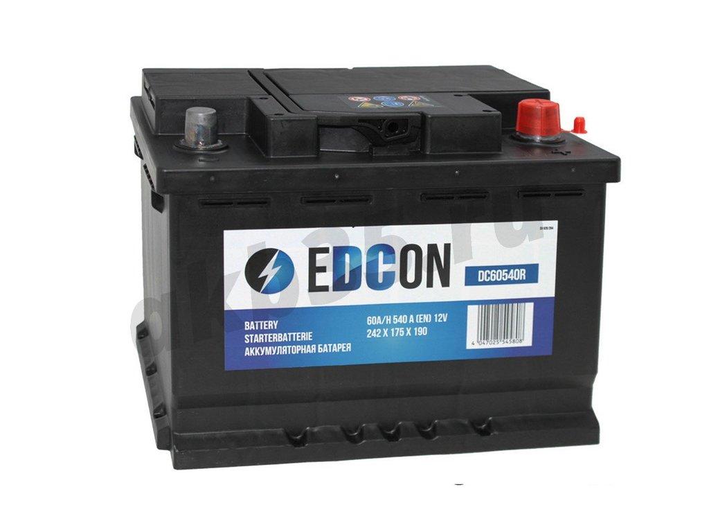 Аккумуляторы: EDCON 60 А/ч Обратный (DC60540R) в Планета АКБ
