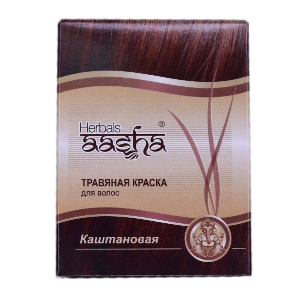 Средства для волос: Травяная краска для волос - Каштановая (Herbals Aasha) в Шамбала, индийская лавка