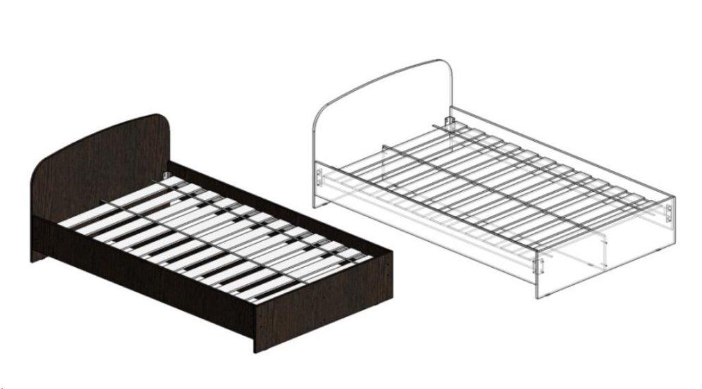 Спальни: Кровати ЛДСП 1240 (А), 1440 (А), 1640 (А) в Диван Плюс