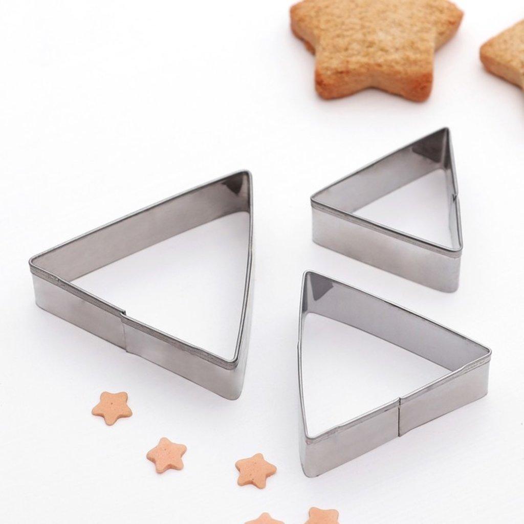 Кондитерский инвентарь: Набор форм для вырезания печенья Треугольник 3шт в ТортExpress