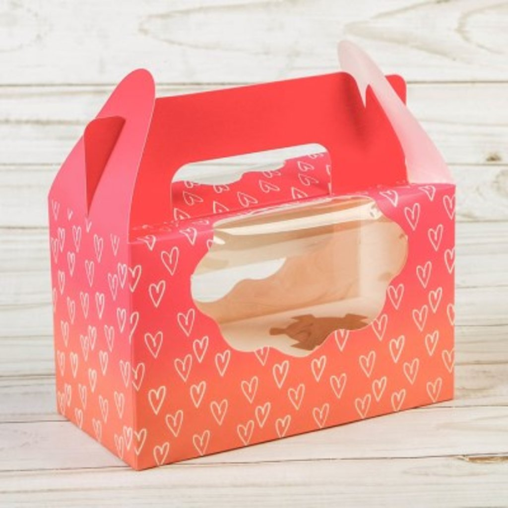 """Коробки для капкейков: Коробочка для кексов """"Love"""", 16 х10х8см в ТортExpress"""
