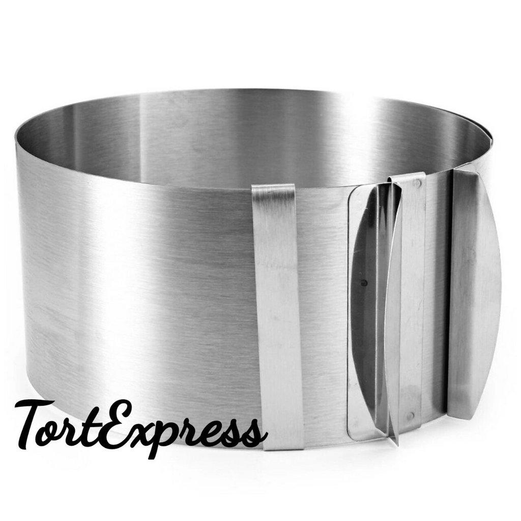 Кольца для выпечки и выкладки: Форма для выпечки с регулируемым  диаметром 20-38см,высота 6.5 см в ТортExpress