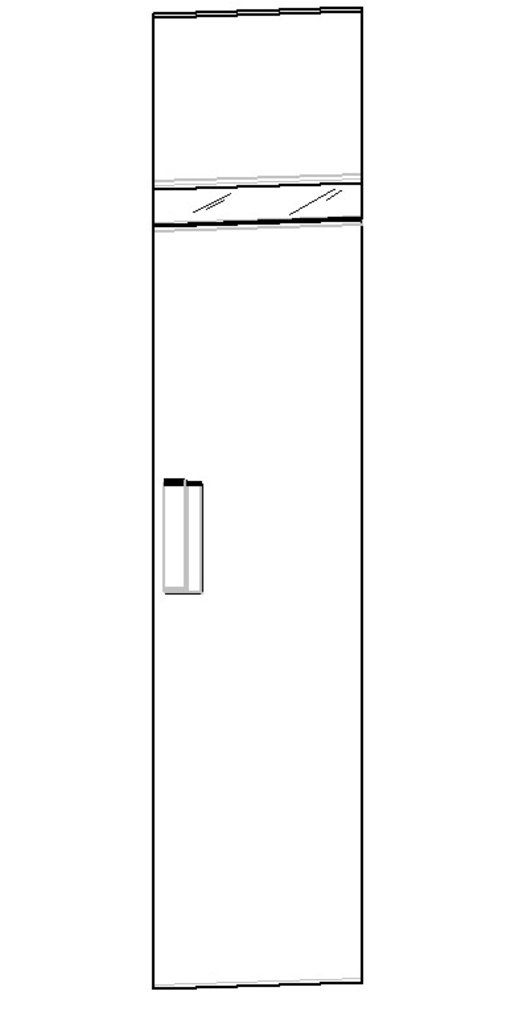 Шкафы для одежды и белья: Шкаф для белья 2 правый Hyper в Стильная мебель