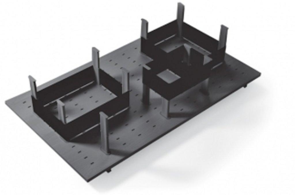 """Мебельная фурнитура """"НОВИНКИ"""": Многофункциональная панель в базу 900 (12 разделителей+3 ленты), для ящика Tandembox 500, отделка орион серый в МебельСтрой"""
