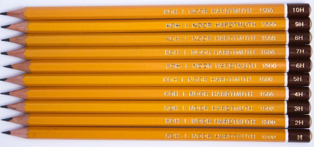 Чернографитные карандаши: Карандаш чернографитный KOH-I-NOOR 1500 3H 1шт в Шедевр, художественный салон