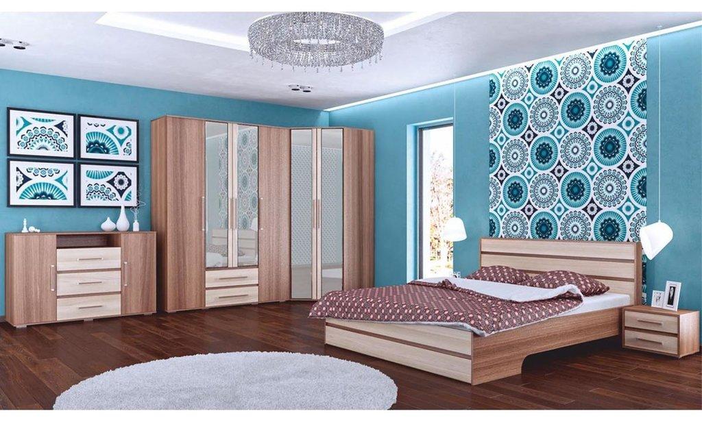 Спальный гарнитур Оливия: Шкаф ШР-3 Оливия, платье и бельё, без ящиков, 1 зеркало в Уютный дом
