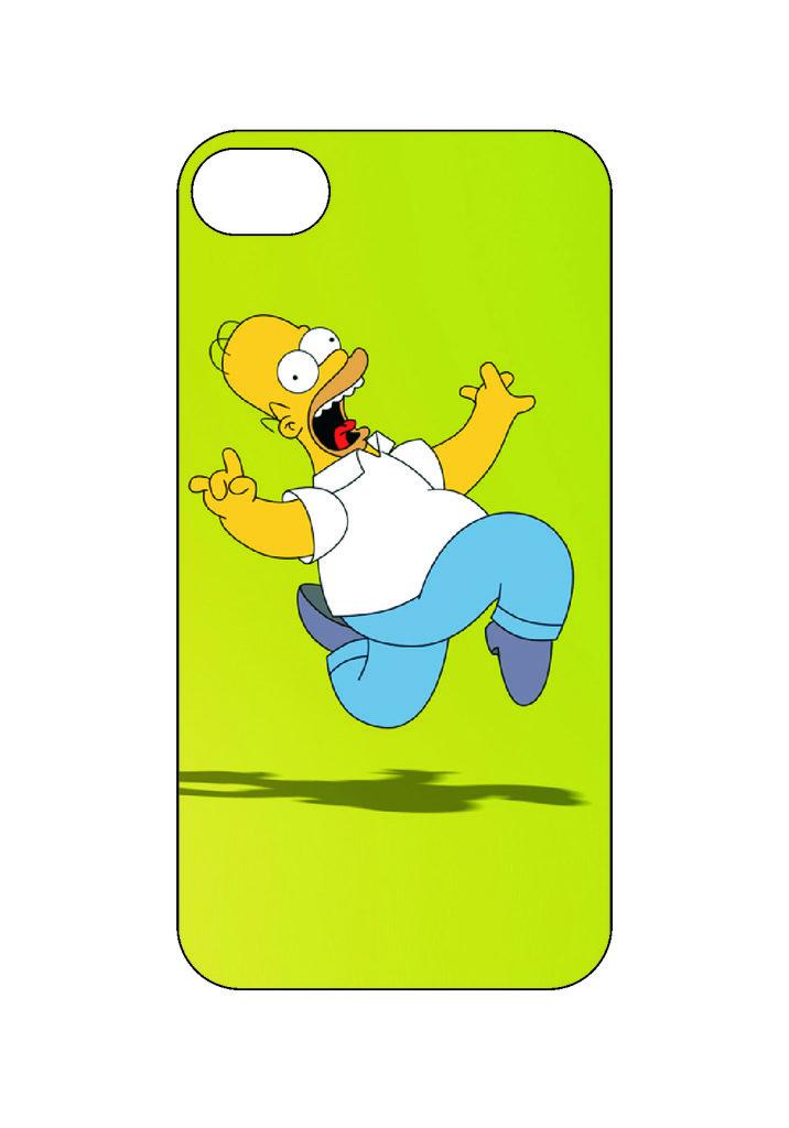 Выбери готовый дизайн для своей модели телефона: Симпсон Гомер в NeoPlastic